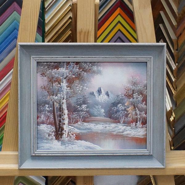 Картина в раме Зимний пейзаж 21х26см -145