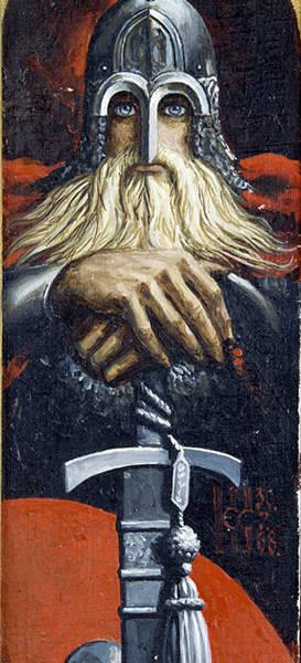 Воин с мечом (эскиз)