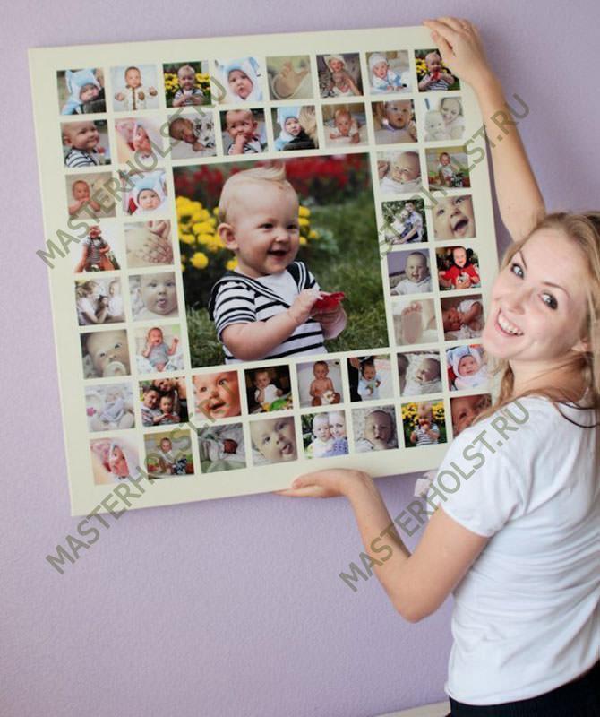Коллаж из детскихграфий на стену