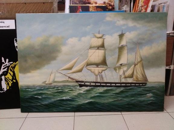 Картина «Корабли» 63х91 см – Щ203