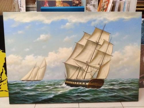 Картина «Корабли» 63х93 см – Щ204