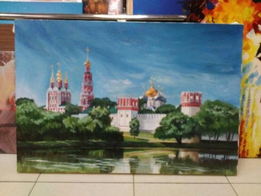 Картина  «Новодевичий монастырь»  48х71 см – Щ205