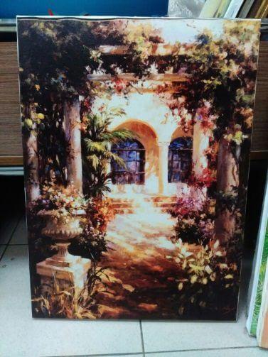 Печ/ х Оксли Вейл «Итальянский дворик» обычная натяжка 49,7х36,3 см – Щ216