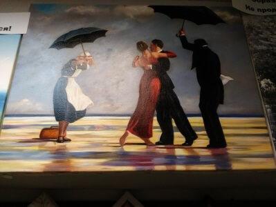 Картина Д. Веттриано «Поющий дворецкий» 35,5х46 см – Щ217