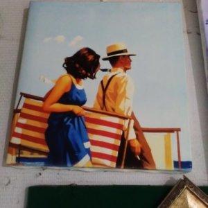 Печ/х Д. Веттриано «На пляже» обычная натяжка 32х30 см – Щ219