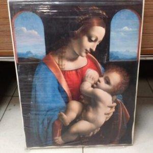Печ/х Л. да Винчи «Мадонна Литта (Мадонна с Младенцем)» обычная натяжка 42х33 см – Щ223