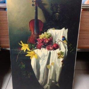 Печ/ х А. Антонов «Натюрморт со скрипкой» обычная натяжка 35,2х56,3 см – Щ232