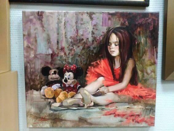 Печ/х «Маленькая балерина» галерейная натяжка с покрытием фактурным гелем 35х40 см – Щ236