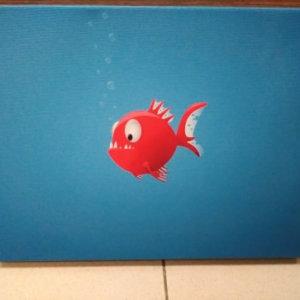 Печ/ х «Пиранья» галерейная натяжка на подрамник 3,5 см – Щ247