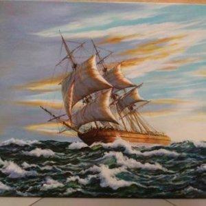 Картина «Корабль» 51х62 см