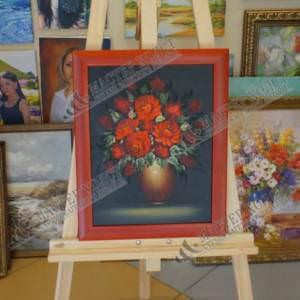 Картина «Букет маков» в раме 43х33 см – П208