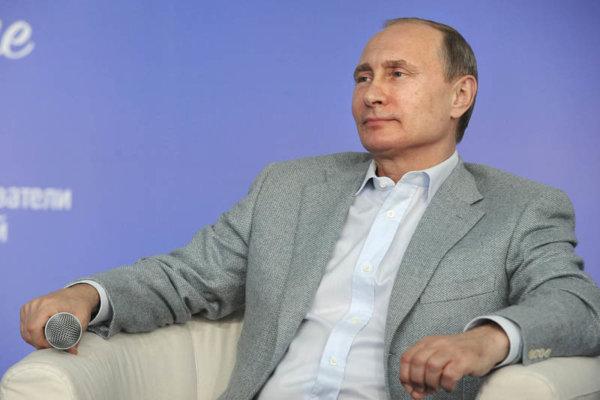 Russian President Vladimir Putin attends an educational youth forum in Vladimir region, Russia