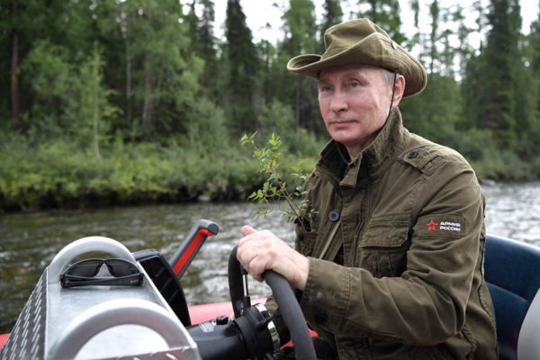 President Putin on vacation in Tyva Republic