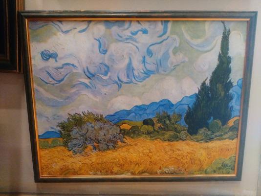Печ/х Ван Гог «Пшеничное поле с кипарисами» в раме - 50,3х65 см П210