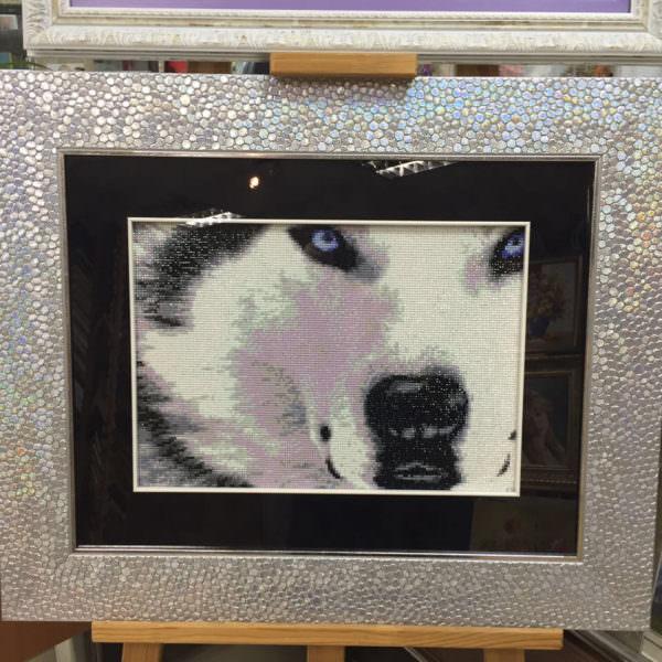 Волк - алмазная мозайка 40х50